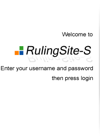 Enter your username and password then press login